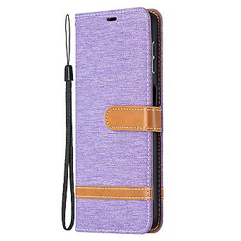Folio Flip Cover Leather Case For Samsung Galaxy A32 4g Violet Jeans