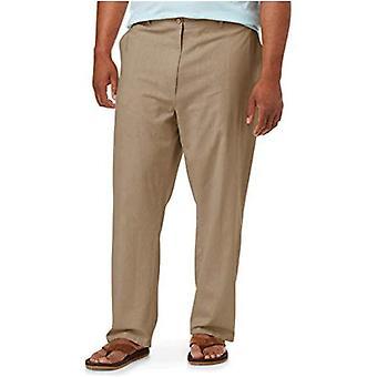 Essentials Men's Big & Tall Linen Blend Pant fit by DXL