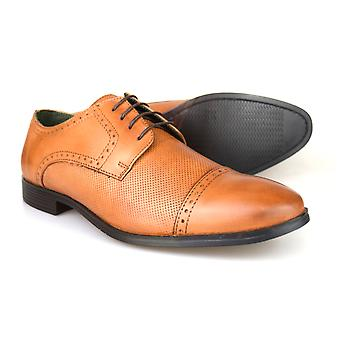 Silver Street London Garrick Mens Tan Leather Formal Gibsons