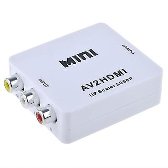 OFF TO 1080p HDMI Adapter-(3x RCA) NTSC/PAL compatible