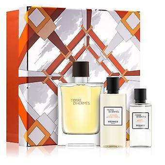 Hermes terre d'hermès eau intense vétiver coffret cadeau 100ml edp + gel douche 80ml + après-rasage 40ml