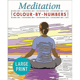 Large Print Meditation Colour by Numbers by David Woodroffe
