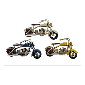 Voertuig DKD Home Decor Decoratieve Metalen Motorfiets (3 stuks) (11 x 4 x 5 cm)