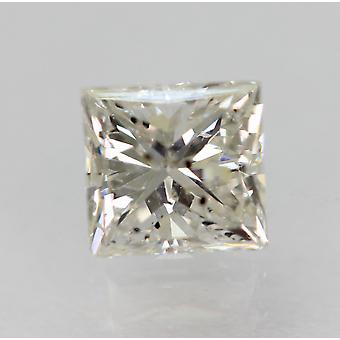 معتمد 0.59 قيراط F SI3 الأميرة تعزيز الماس فضفاضة الطبيعية 4.71x4.48mm