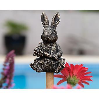 Cane Companions Beatrix Potter Peter Rabbit Stake Topper Bronze Color Ornament