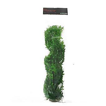 "Aquatop Broad Leaf Aquarium Plant - Dark Green - 31"" High with Weighted Base"