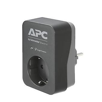 APC PME1WB-GR, 680 J, 1 AC-utgångar, Typ F, 230 V, 50/60 hz, 16 A