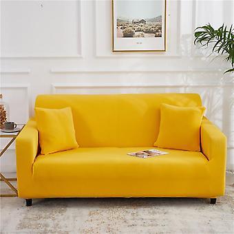 يغطي أريكة اللون الصلب لغرفة المعيشة البوليستر أريكة تغطية الأريكة زاوية مرنة غطاء كرسي الانزلاق حامي 1/2/3/4 مقعد