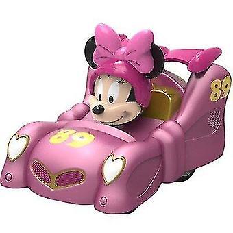 سيارات اللعبة حقيقية ديزني مجموعة دمية ميكي ميني المتداول حرف الحركة نموذج الرسوم المتحركة الوردي