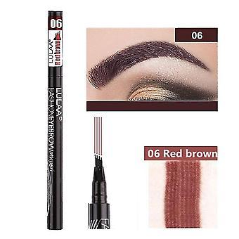 Eyebrow enhancers waterproof cosmetic eyebrow pen 06 red brown