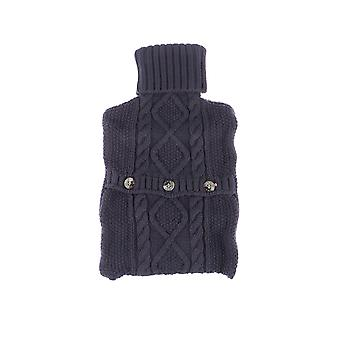 1l Hot Water Bottle Knitted Cover Warm Foldable Water Bottle Case Solid Color Bottle Bag For Quick Pain Relief (grey)