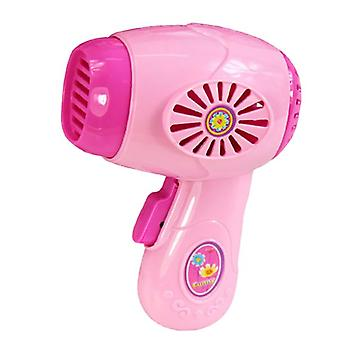 Simulación secador de pelo, Mini secador de pelo de plástico, Juguetes de rol para niños, Juguetes de casa de muñecas, Regalos para niños
