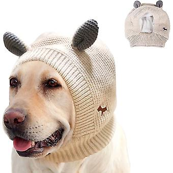 Dog Knitted Hat Witer Warm Puppy Cap Bunny Ears Design Ear Muffs Noise Protection