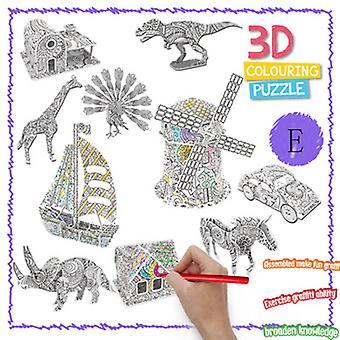 צעצוע פאזל תלת מימדי של Diy Graffiti לילדים