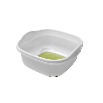 9L cucina lavello Soft Touch Base plastica Washing Up Bowl bianco