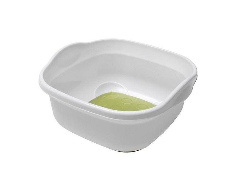 9L Kitchen Sink Soft Touch Base Plastic Washing Up White Bowl