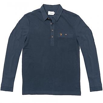 Farah Farah Lester Long Sleeve Mens Polo Shirt