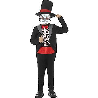 Dziecięce stroje karnawalowe dzień zmarłych meksykański kostium