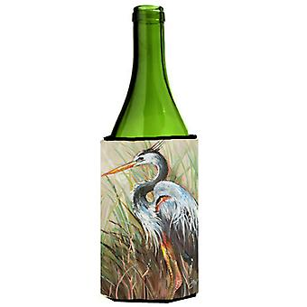 Blue Heron Gazing West Wine Bottle Beverage Insulator Hugger