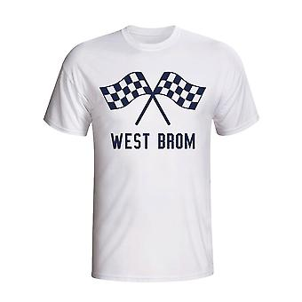 West Brom Waving Flaggen-T-Shirt (weiß)