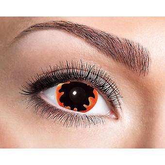 Pupilentes sclera mini negro sol 17 mm