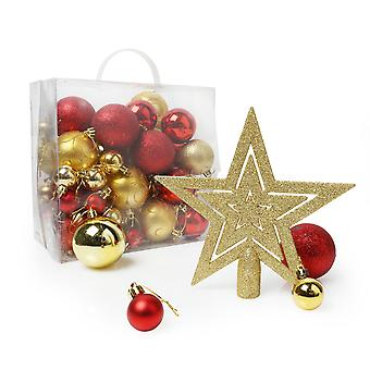Christmas Shop Assorted 50 Piece Christmas Tree Decoration Pack