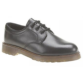 Grafters Mens Smooth Leather Uniform Shoes