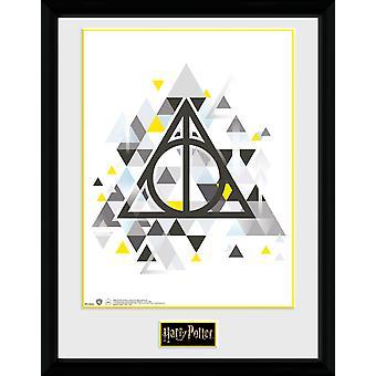 Harry Potter Deathly Pixels Framed Collector Print