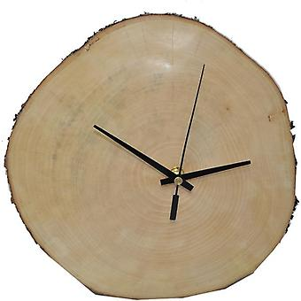 Wood Wall Clock Wood Clock Clock 27 x 26 cm The Harmonic Tree Slice Made in Austria Clock Maple Maple Acer pseudoplatanum Gift Gift Idea Wooden Decoration Decoration Decoration Wood Decoration Wood Decoration