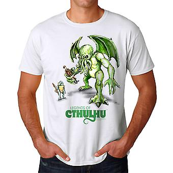 Warpo Cthulhu Illustration Men's White T-shirt