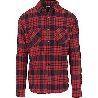 Stedelijke klassiekers mannen overhemd gecontroleerd flanellen shirt 2