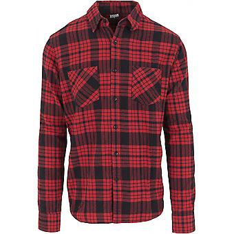 Urban classics men's shirt checked flannel shirt 2