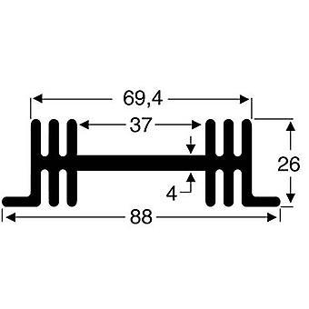 Fischer Elektronik SK 36 50 SA Disipador de calor 3,8 K/W (L x An x H) 50 x 88 x 26 mm
