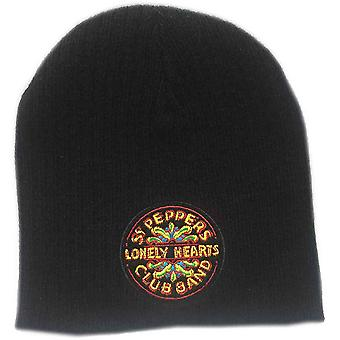The Beatles Beanie Hat Sgt Pepper Lonely Hearts Club Band Logo new Official Black