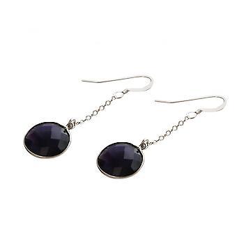 Damen - Ohrringe - Ohrhänger - 925 Silber - Amethyst - Violett - 2 cm