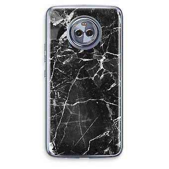Motorola Moto X4 boîtier Transparent (doux) - marbre noir 2
