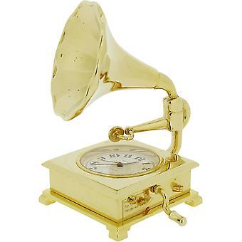 Cadeau produits Gramophone Miniature horloge - or