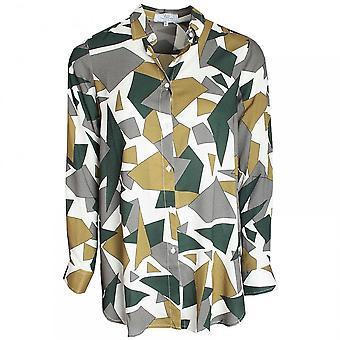 Vlt's By Valentina's Camouflage Print Boyfriend Cut Shirt