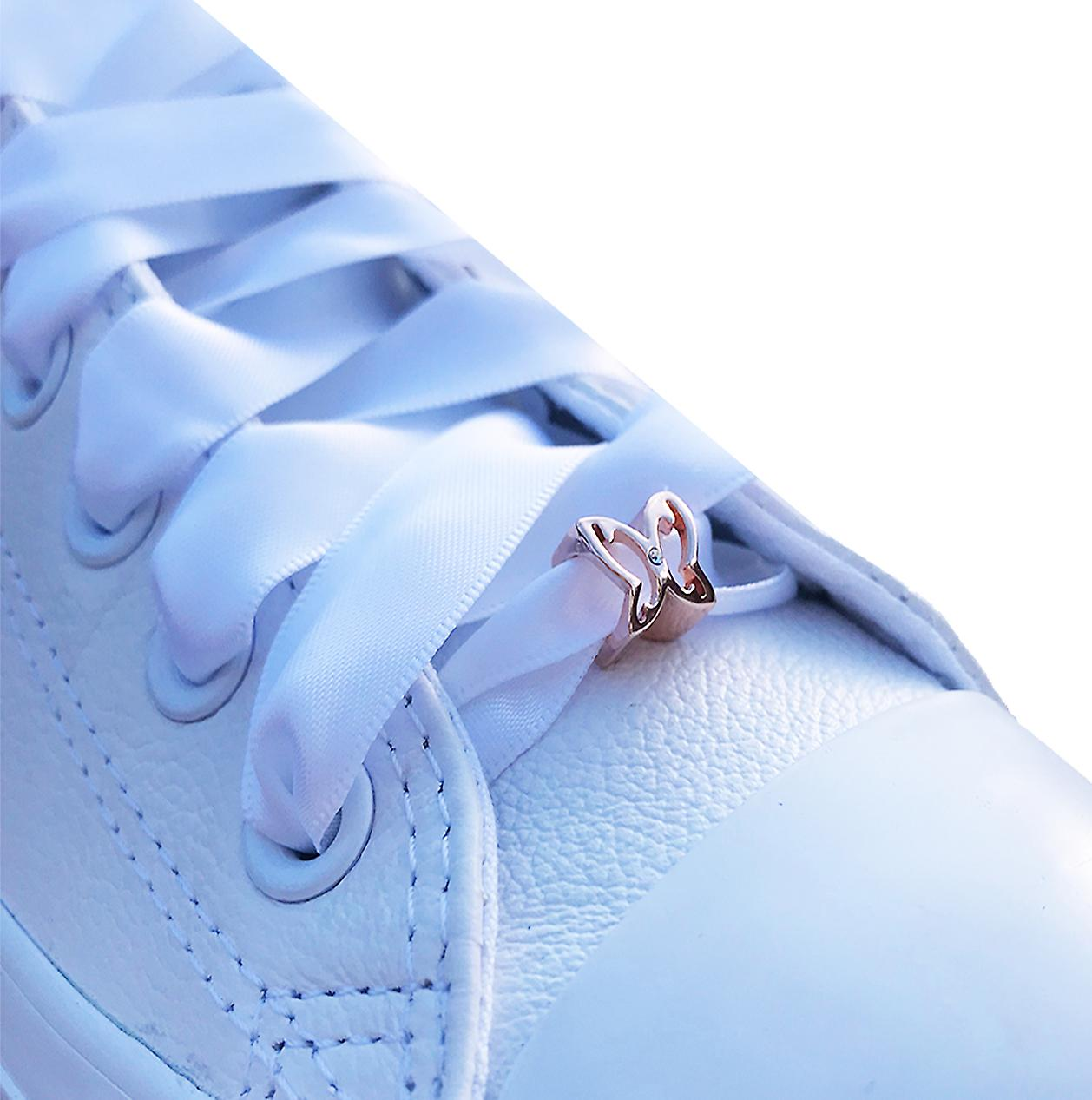 Rose Gold Butterfly Shoe Charm