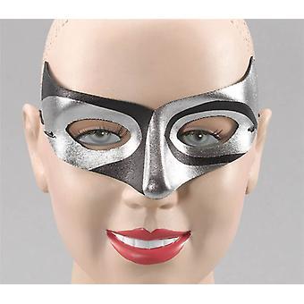 Zilver/Blk Macumba stijl Eye Mask.