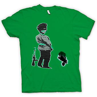 Kids t-skjorte - Banksy Graffiti kunst - soldat