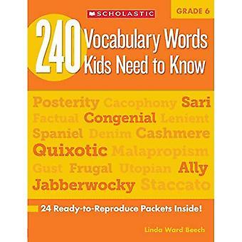 240 woordenschat woorden kinderen nodig om te weten, rang 6:24 klaar-om-reproduceren pakketten die Make woordenschat gebouw Fun & effectief