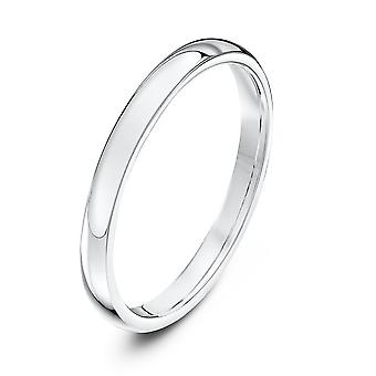 Star Wedding Rings Platinum Heavy Court Shape 2mm Wedding Ring