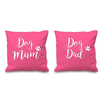 Dog Mum Dog Dad Pink Cushion Covers 16
