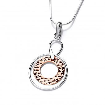 Cavendish French Sterling Silver and Copper Astral Pendant with Silver Chain