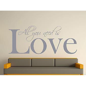 All You Need Art Wall Sticker - Argent