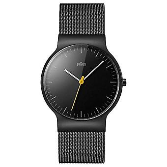 Braun men's Quartz Analog leather strap BN0211BKMHG