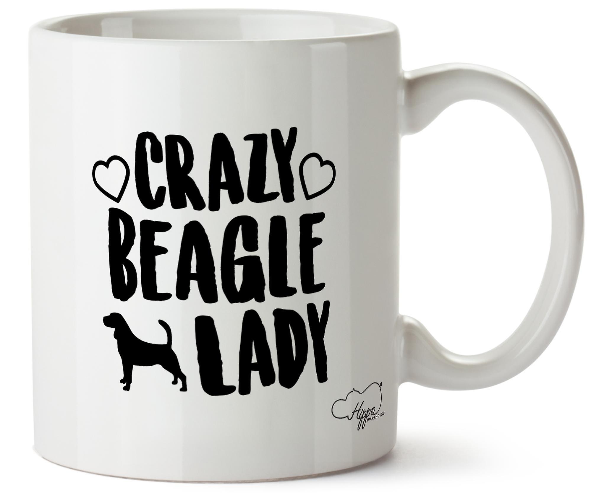 Hippowarehouse ума Бигл Собака леди напечатаны Кубка керамическая кружка 10oz