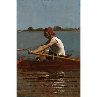 المناظر الطبيعية من Biglin,Thomas Eakins,60x40cm