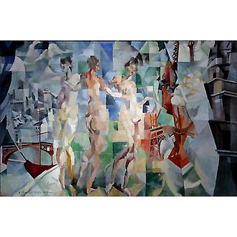 Pari isin kaupunki, Robert Delaunay, 60x40cm
